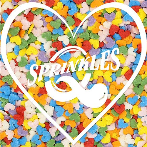 Natural Color Confetti Rainbow Hearts Sprinkles Gluten GMO Nuts Dairy Soy Free -