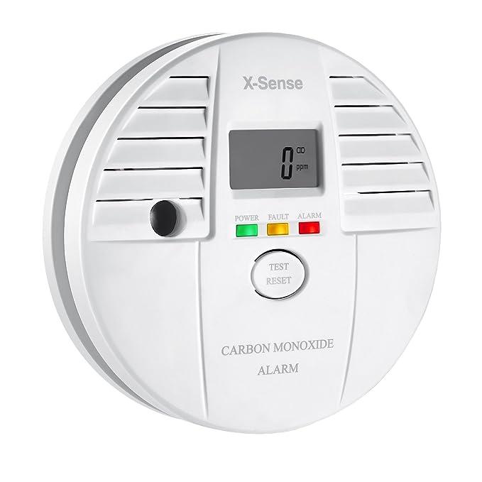 X-Sense CO05S - Detector monóxido de carbono alarma CO, pantalla digital, batería, color blanco: Amazon.es: Bricolaje y herramientas