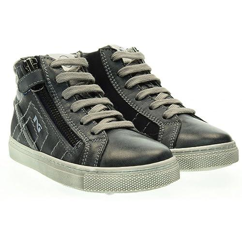 Nero Giardini Junior Sneaker Bambino Brandon Blu T.Malawi Tela Pelle Grigio  Zaffiro A634000M dd2a9a6b682