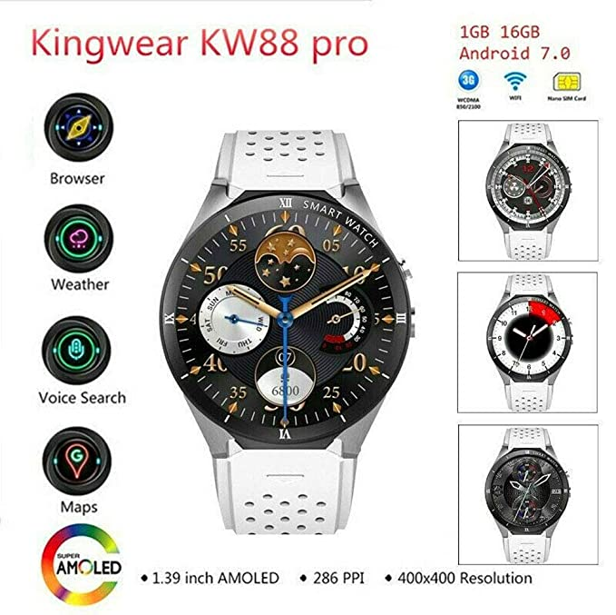 Amazon.com: KW88 Pro Smart Watch Phone Android 3G WiFi Sim ...