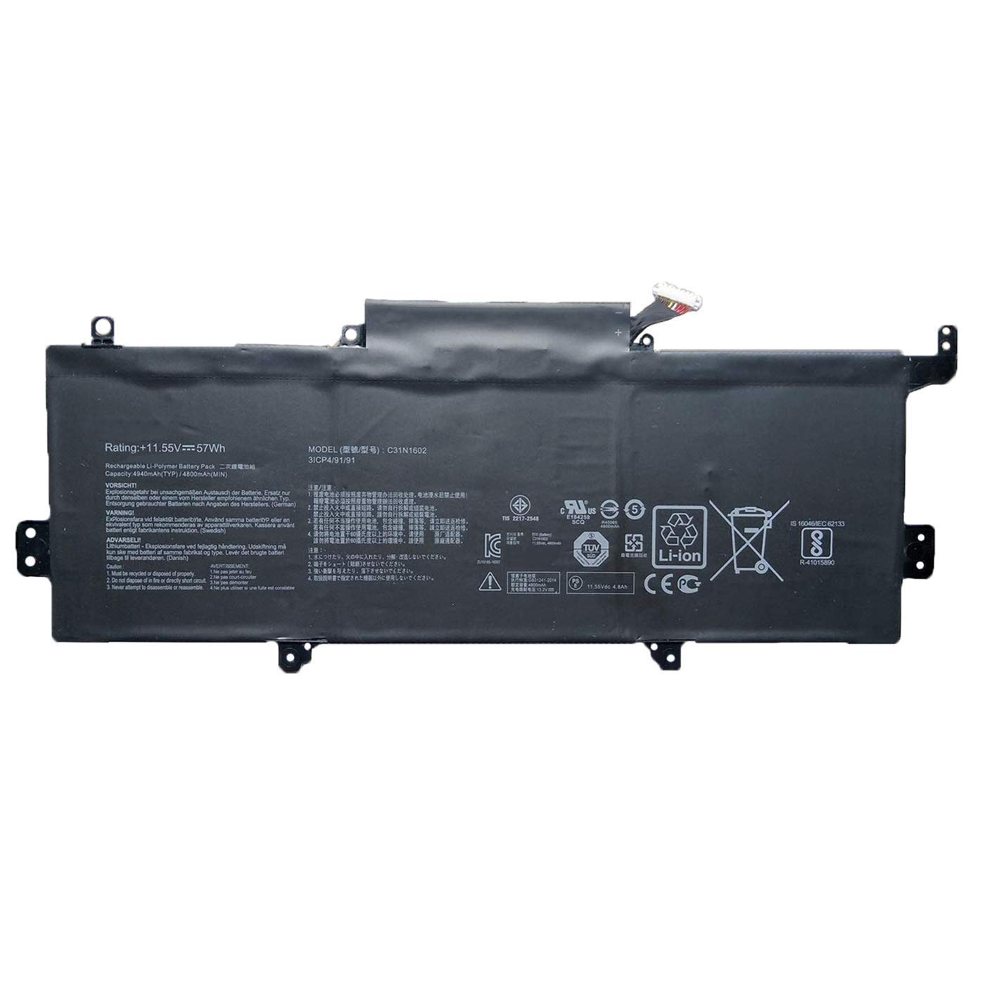 Bateria C31n1602 11.55v 57wh Para Asus Zenbook U3000u Ux330 Ux330u Ux330ua Ux330ua-1a Ux330ua-1b Ux330ua-1c Ux330ua-fb01