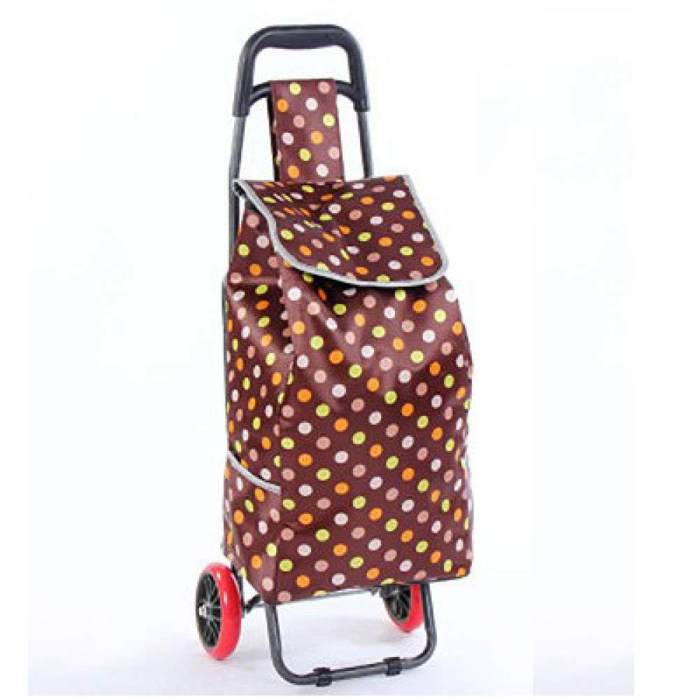 Trolley Shopping Portable Folding Grocery Shopping Cart,C