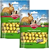 Kaytee Fiesta Banana Flavor Yogurt Dipped Treats for Rabbit, Guinea Pig and Chinchilla, 3.5-oz bag (2-Pack)