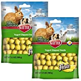 Kaytee Fiesta Banana Flavor Yogurt Dipped Treats for Rabbit, Guinea Pig and Chinchilla, 3.5-oz bag (2-Pack)