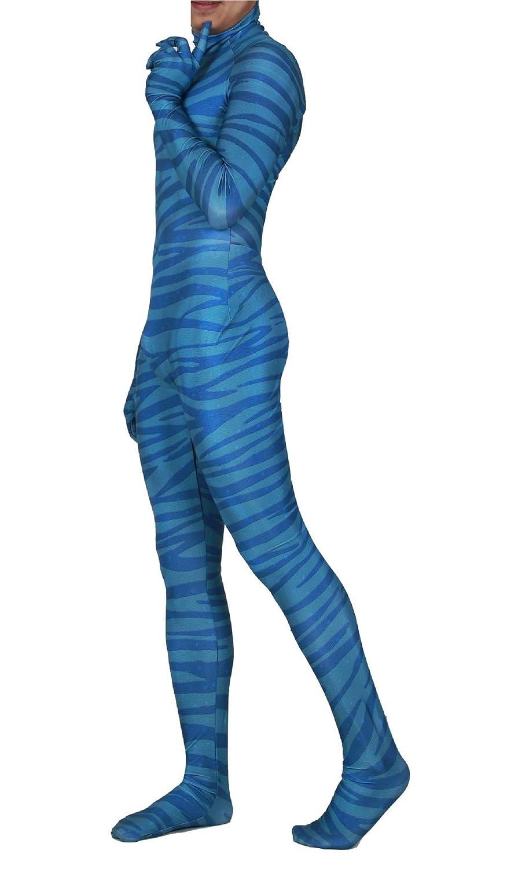 COSKING Disfraz de Avatar para Adulto, Traje Zentai - Azul - Small ...