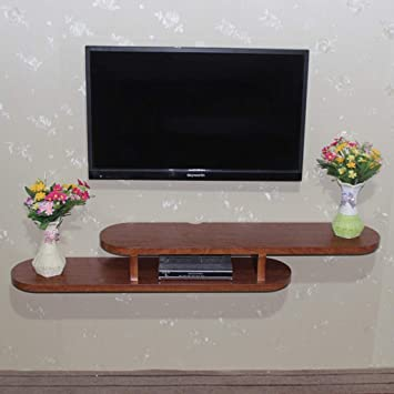 Televisor Montado en la Pared Gabinete Estante Flotante Dormitorio Sala de Estar Estante en la Pared Router Set Top Box Estante de Almacenamiento Consola para TV Soporte para TV 1.2/1.5/1.7M (Col: Amazon.es: