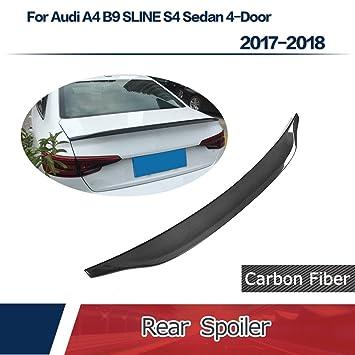 jcsportline de fibra de carbono Alerón Trasero para AUDI A4 B9 Sline S4 sedán 4 puertas (2017 - 2018: Amazon.es: Coche y moto
