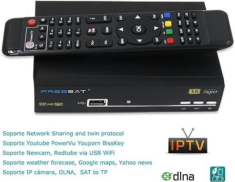 Freesat V8 Súper Receptor Satélite Digital Decodificador DVB-S2, Full HD 1080P, Antena WiFi Not Incluido