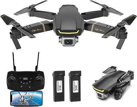 Opinión sobre Goolsky Global Drone GW89 RC Drone Drone x procon Cámara 1080P WiFi FPV Foldable Controles Remotos Plegable RC Selfie Quadcopter para Niños Principiantes Entrenamiento (Negro, 2 Batería)