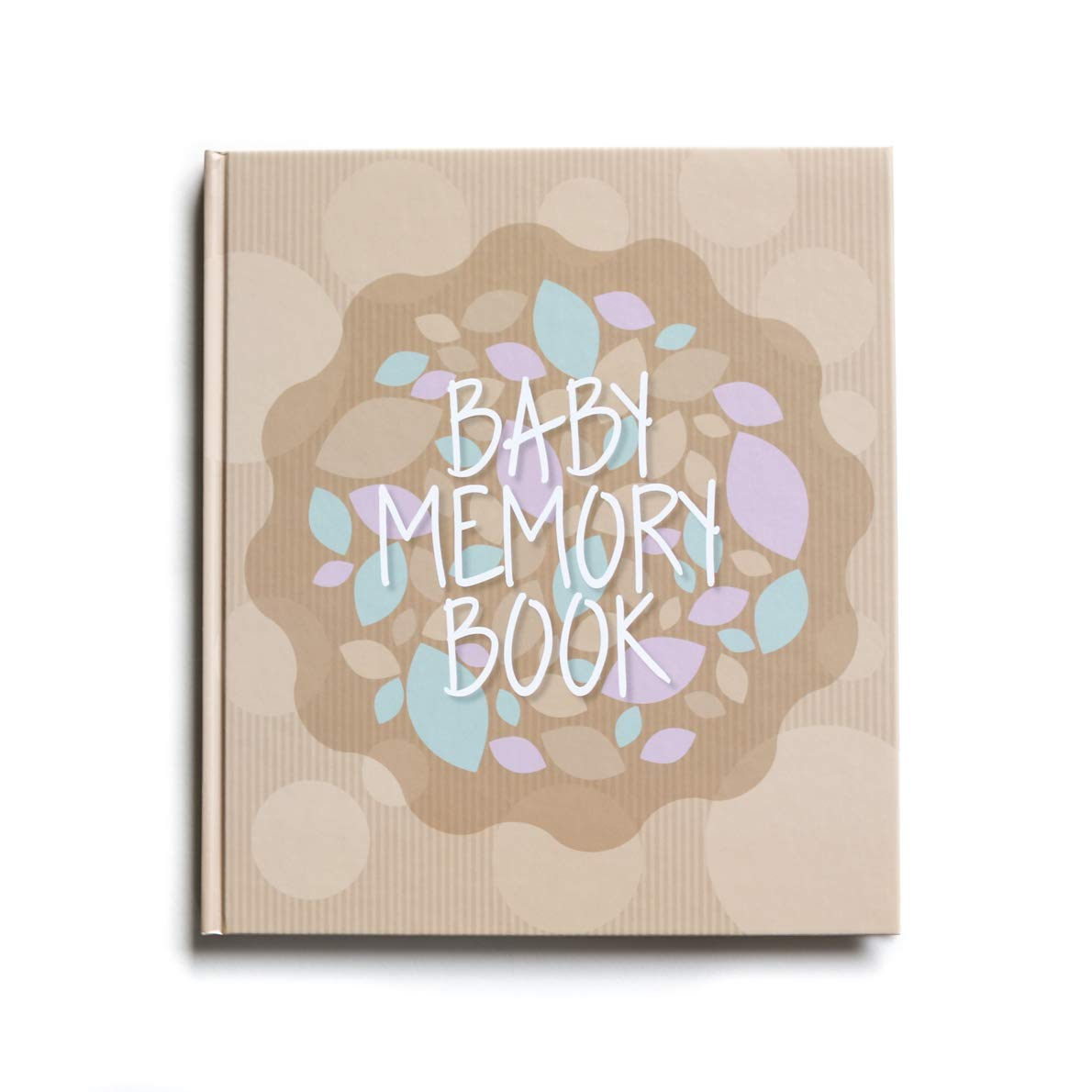 Baby Memory Book And Keepsake For Baby's First Year - A Scrapbook / Photo Album / Journal For Both Boy And Girl - White Pages Lucky Baby Moments AMZ2