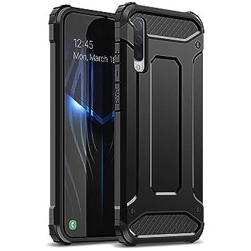 WE LOVE CASE Funda para Samsung Galaxy A50 Carcasa Bumper Anti-arañazos Protectora Antichoque Cover de Doble Capa PC + Silicona Delgado Armadura ...