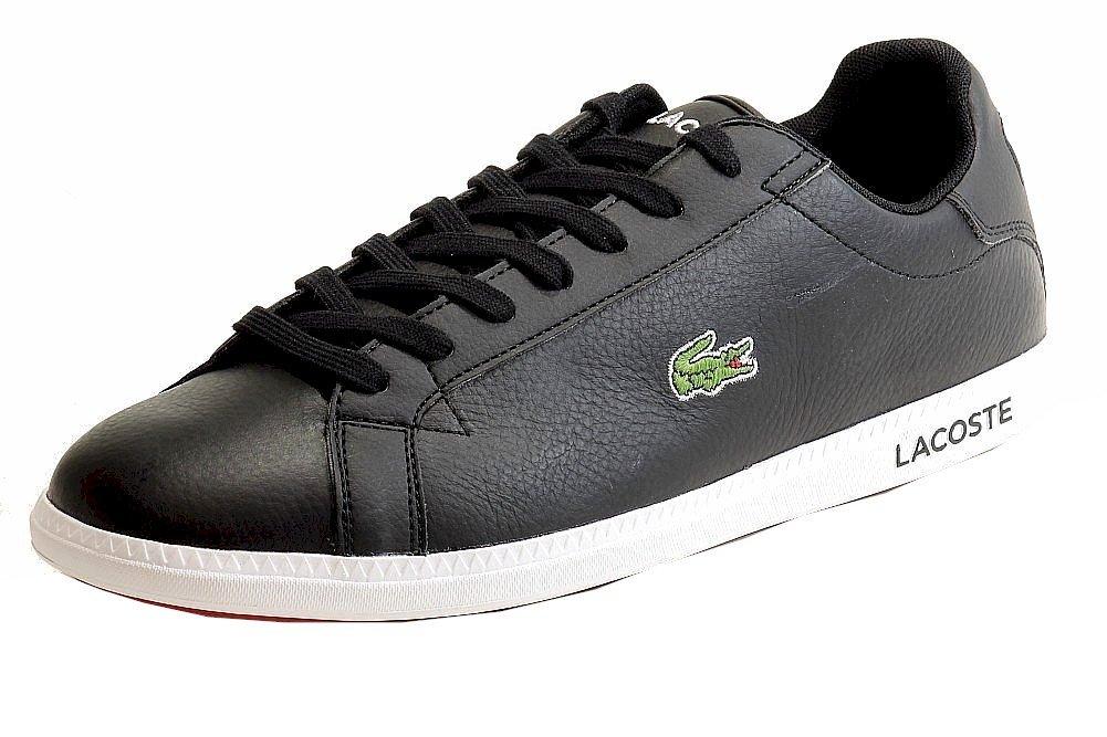 Lacoste Men's Graduate LCR Fashion Sneaker, Black/Black, 11 M US