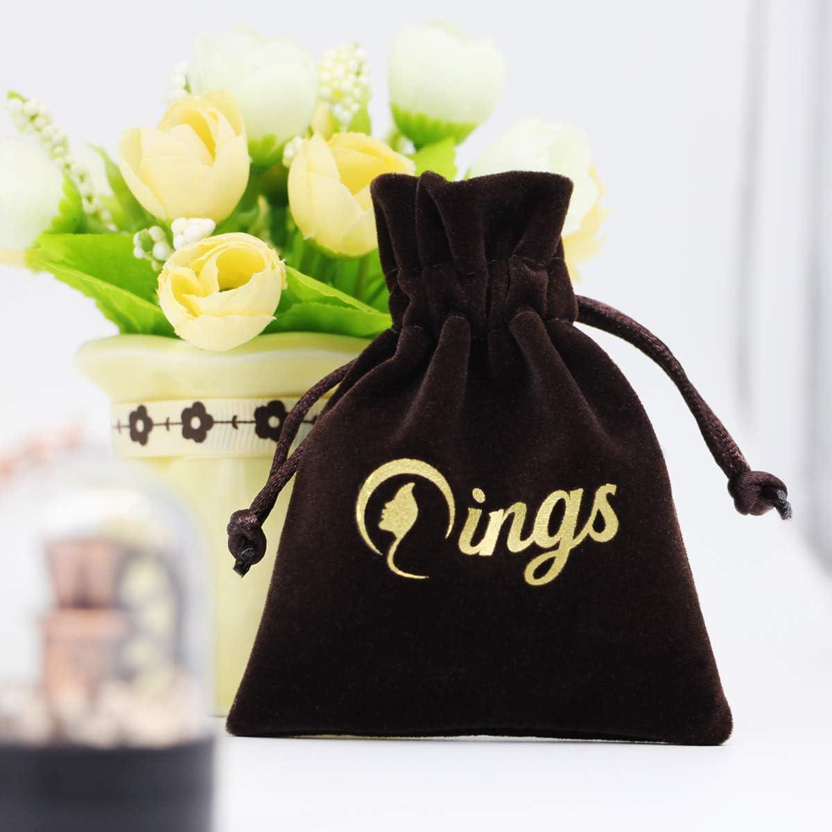 Qings Bague Couronne en Argent Sterling 925 Or Rose avec Zircon Cubique pour Femmes