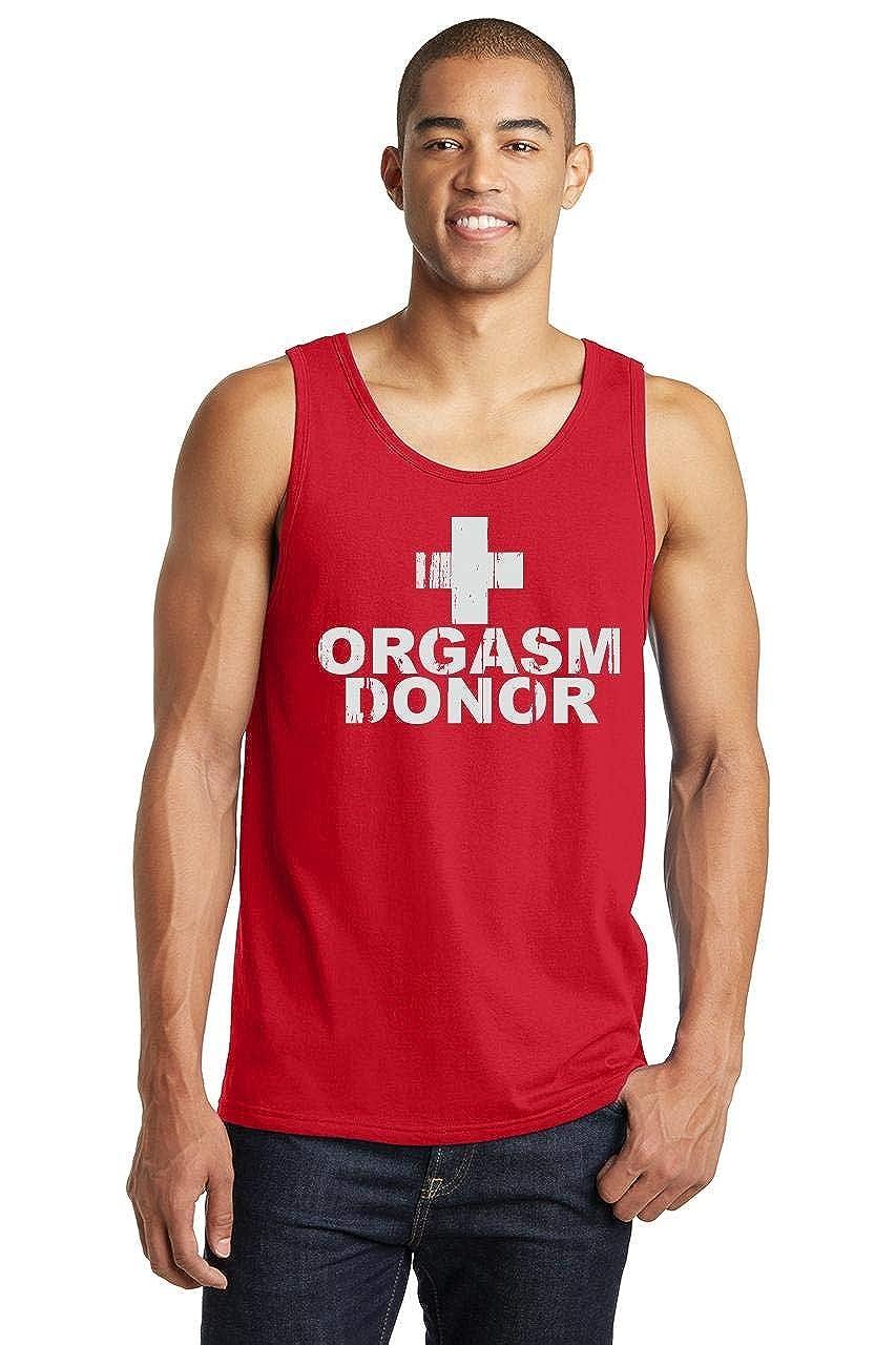 Comical Shirt Mens Orgasm Donor Funny Sexual Tee Tank Top