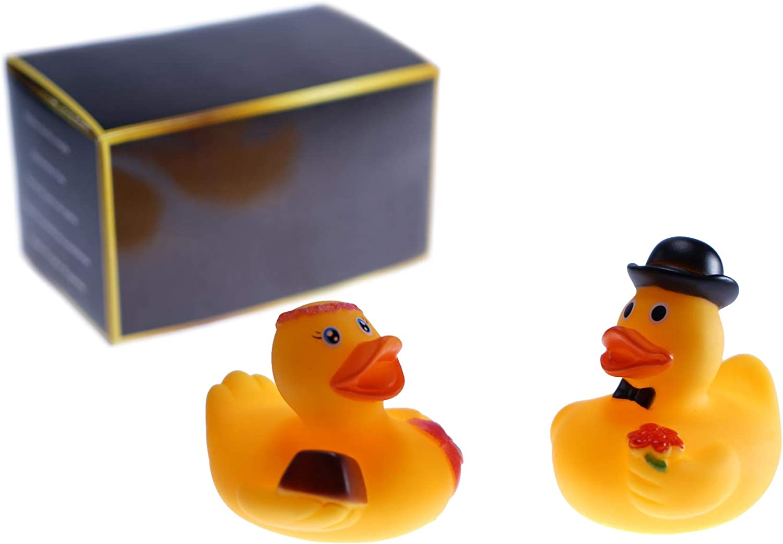 Mia ♥ Mio - Patos de goma / Juego de patitos para baño en caja para regalo