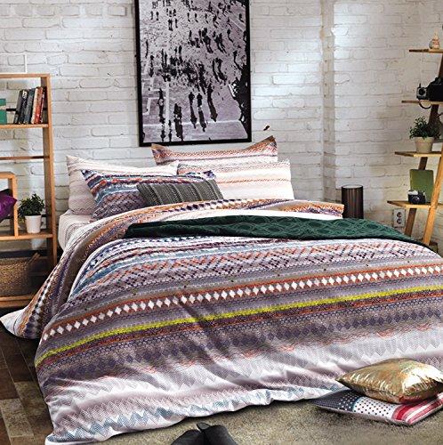 bohemian duvet cover striped ethnic boho reversible southwestern 400tc cotton king size bedding. Black Bedroom Furniture Sets. Home Design Ideas