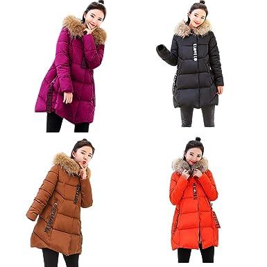 DICPOLIA Women Winter Casual Long Coats Thicker Down Jacket Coat Hooded Outwear (S, Black