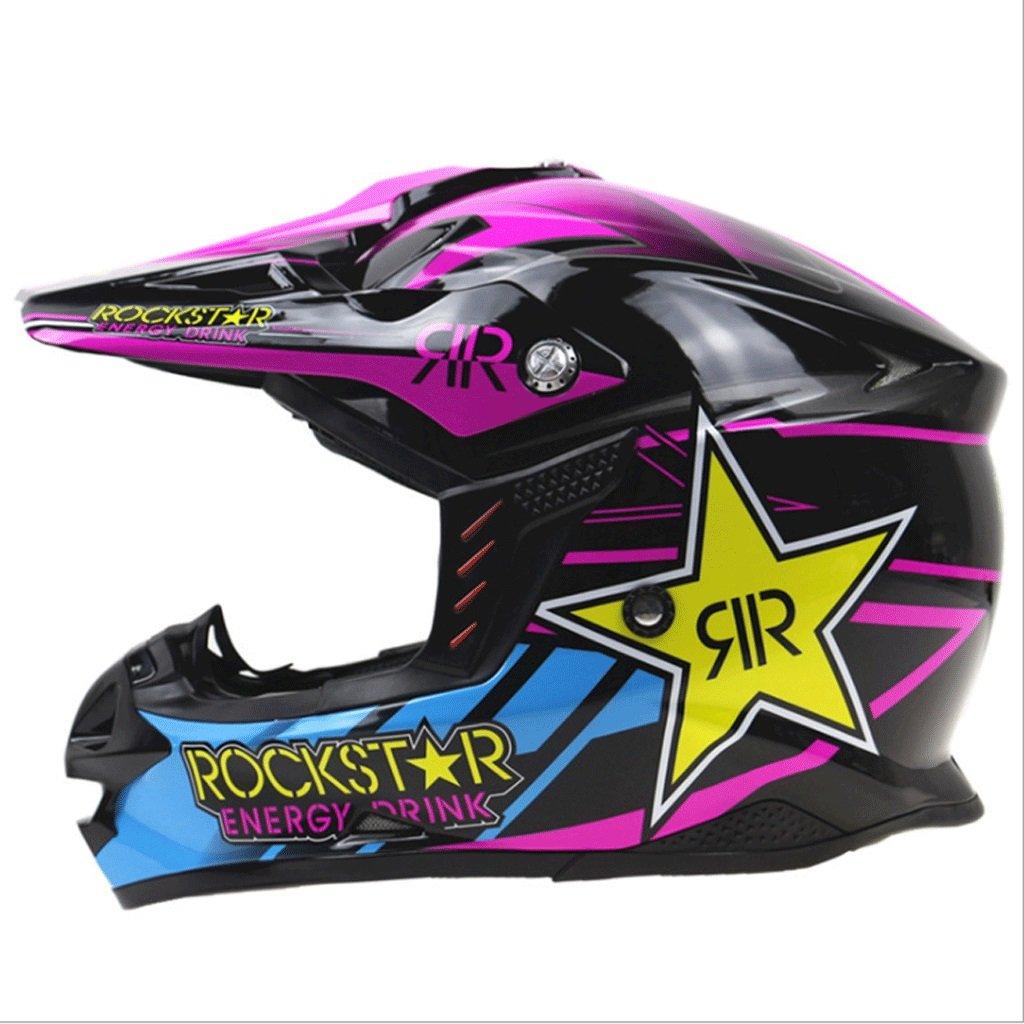 プロのオートバイヘルメットレーシングスピード泥トラックオートバイレーシングヘルメットプルヘルメット調整可能ソケットフルカバータイプ (サイズ さいず : XXL) B07P652V12 L l  L l