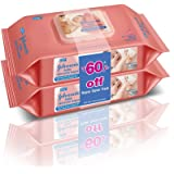 Johnson's baby skincare Wipes 80s pack of 2 (Rs. 60 off)