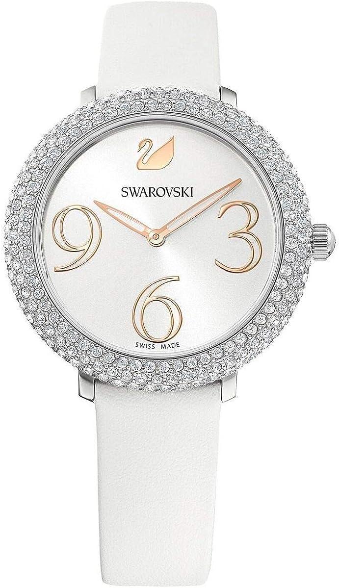 Reloj Swarovski 5484070 Crystal Frost LS Wht/Wht/STS, Blanco con Brillantes