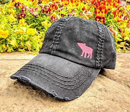 Loaded Lids, Customized, Women's Pig Hat, Pig Baseball Cap, Pig Hat, Farm Hat