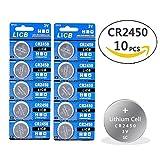 LiCB 10 pack CR2450 3V Lithium Battery CR 2450