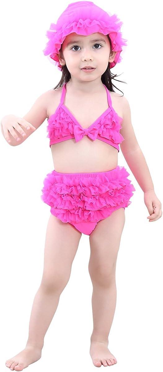 Kanodan Baby Bikini Set 1-10 Jahre M/ädchen 3 teilige Badeanzug