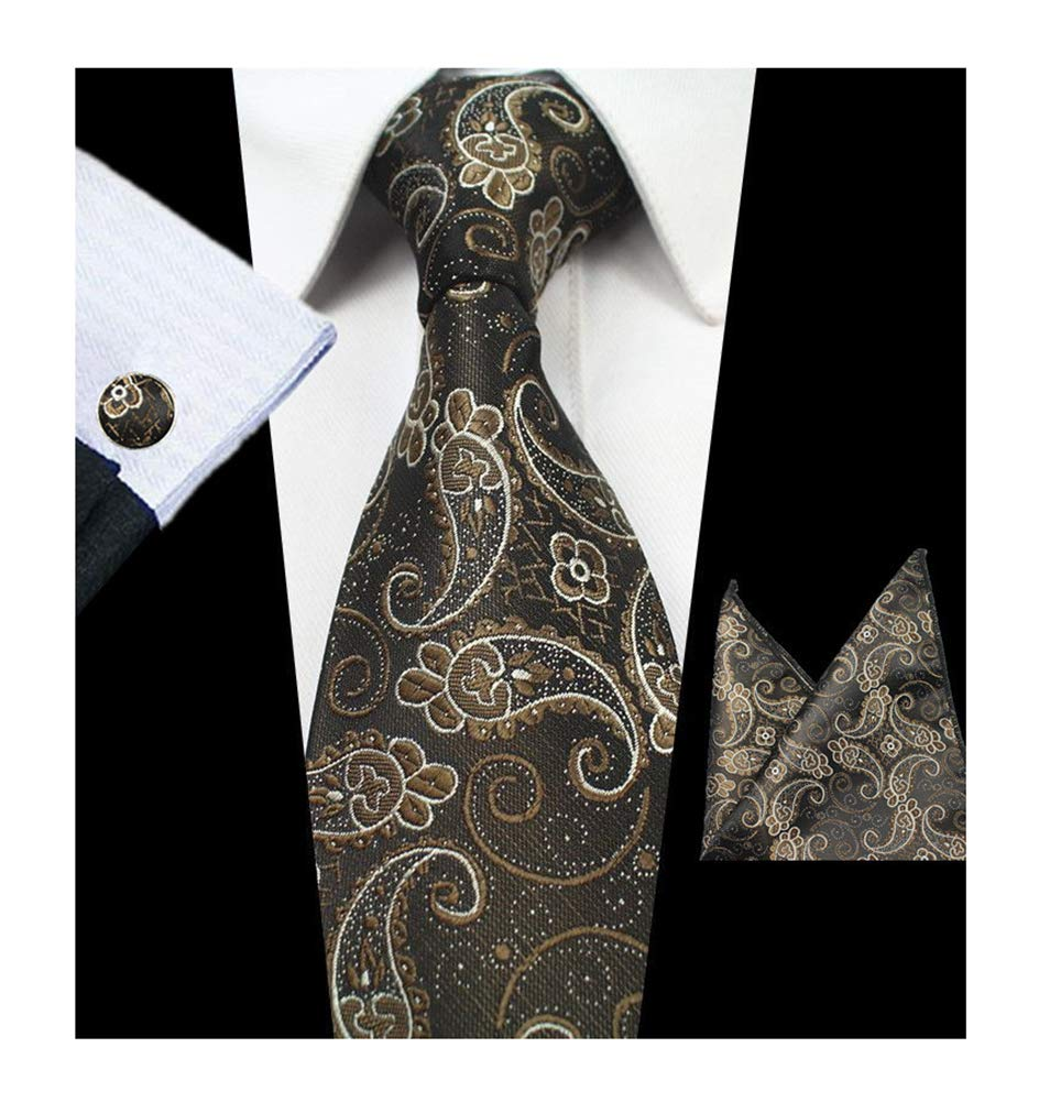 Mens Big Boys Silk Ties Skinny Paisley Woven Formal Business Dance Suit Necktie