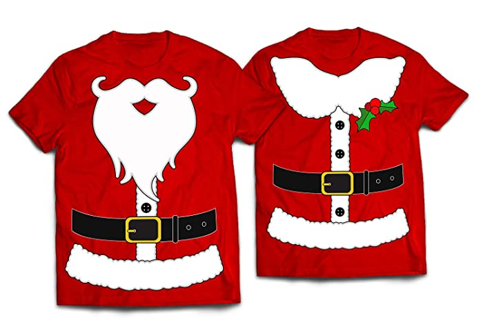 5a4c6fd26 Amazon.com: Mr/Mrs Santa Claus Costume Matching Couple Outfit Funny  Christmas Gift Customized Handmade T-Shirt Hoodie/Long Sleeve/Tank  Top/Sweatshirt: ...