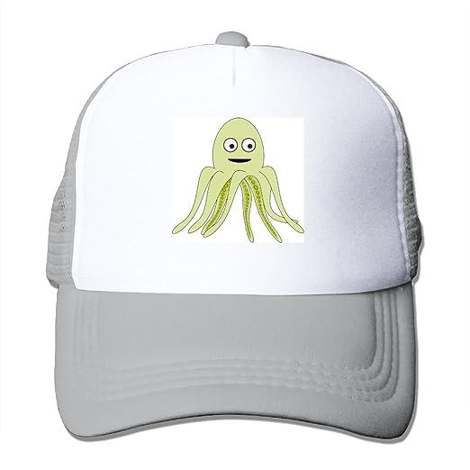 aa5c5426 Amazon.com: Cartoon Octopus Big Foam Mesh Hat Mesh Back Adjustable ...