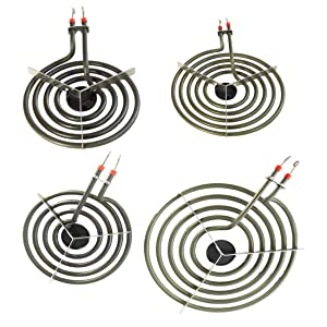 MP22YA Element Replacement Part,2pcs MP15YA and 2pcs MP21YAElectric Range Surface Burner Coil Unit Set Compatible with Whirlpool, KitchenAid, Maytag Oven