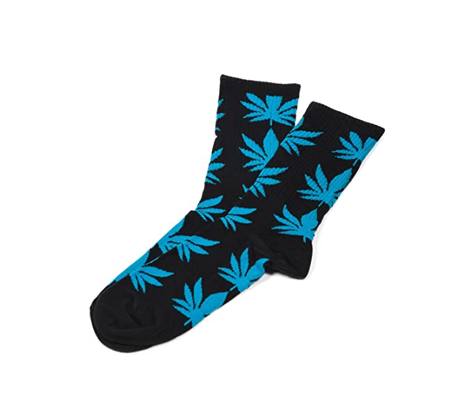 Morefaz Calcetines unisex Highlife Ganja hoja Weed Comfort Calf Hi Hombre Mujer Mfaz Ltd Negro Azul Negro Regular: Amazon.es: Ropa y accesorios