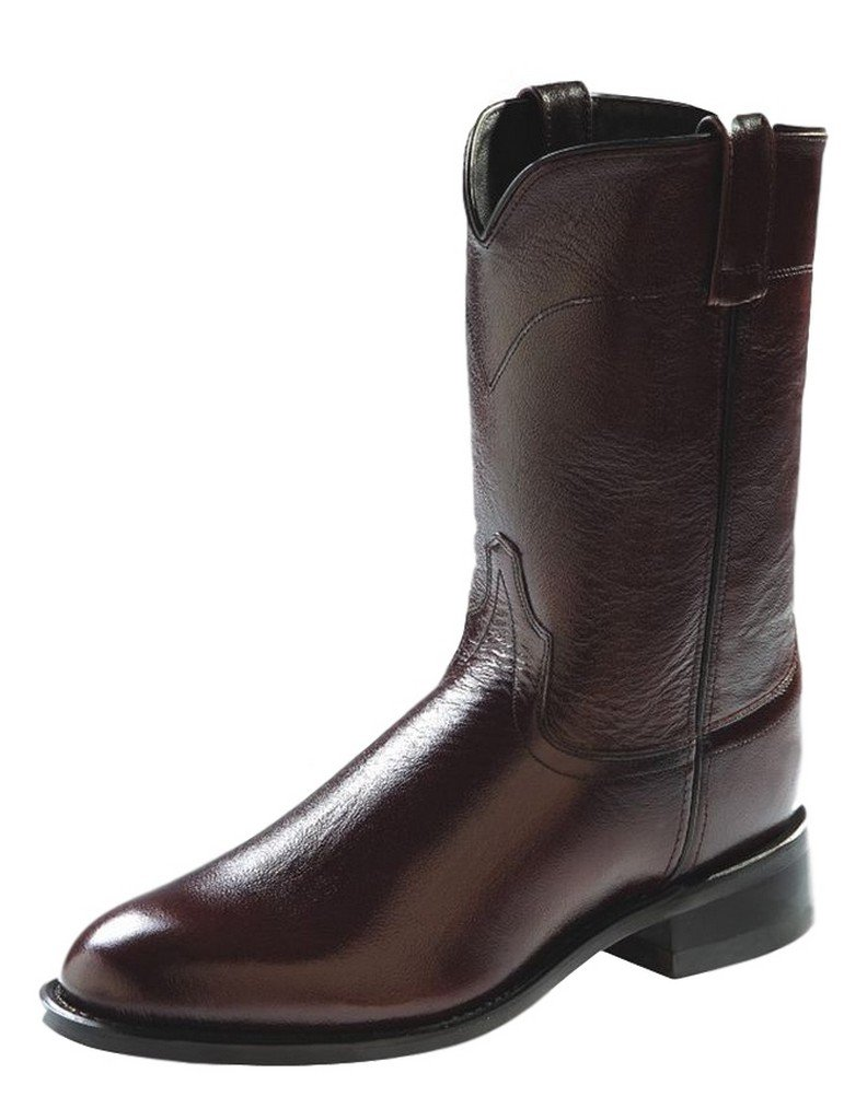 Old West Men's Leather Roper Cowboy Boot Black Cherry 7.5 D(M) US by Old West