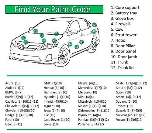 TOYOTA HIGHLANDER Blizzard/White Pearl Crystal 3ct 070 11.4 Oz Spray Touch Up Paint (For All Year) by Auto Paint Depot (Image #3)