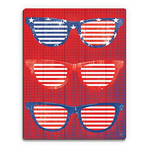 Americana Glasses - Patriotic Red White Blue Sunshades Wall Art Print