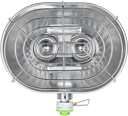 XWX Doble Cabeza del Calentador Portátil Al Aire Libre Estufa ...