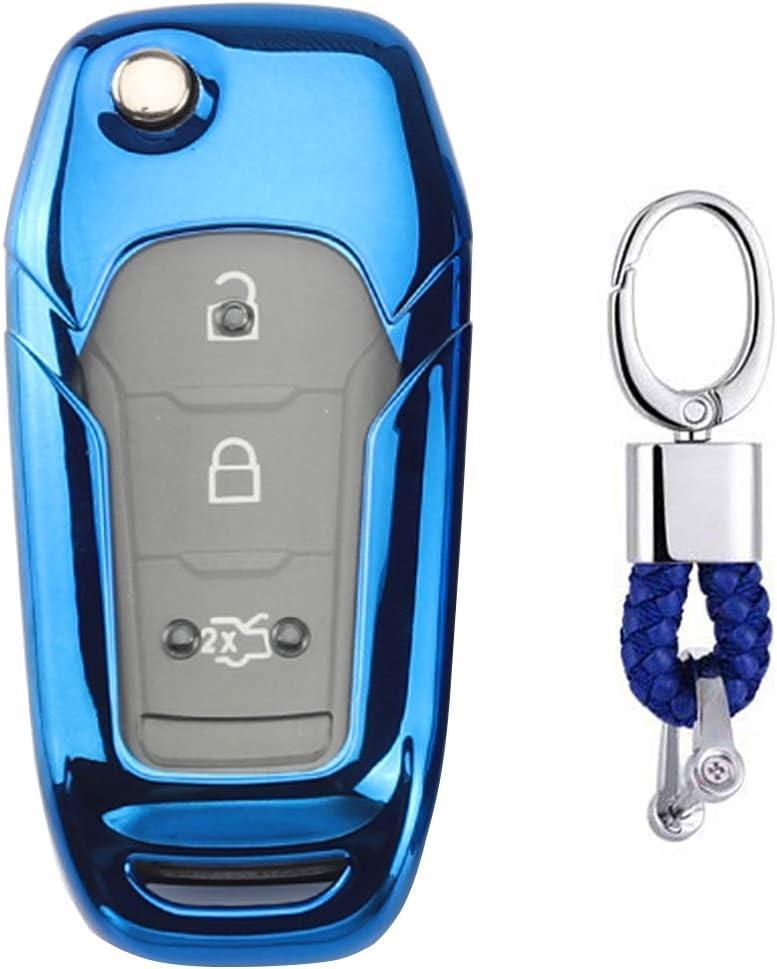 Fob Schale TPU Halter Clever Schlüssel für Ford Fiesta Focus Kuga Abdeckung Kit