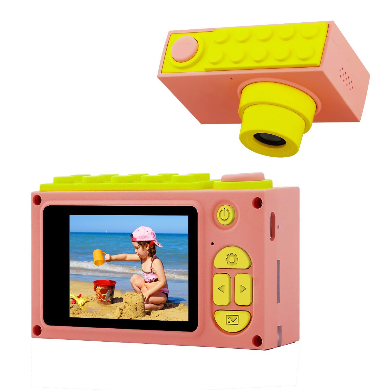 BlueFire Kids Digital Camera Mini 2 Inch Screen Children's Camera 8MP HD Digital Camera with Silicone Soft Cover, Best Gift for International Children's Day(Blue)