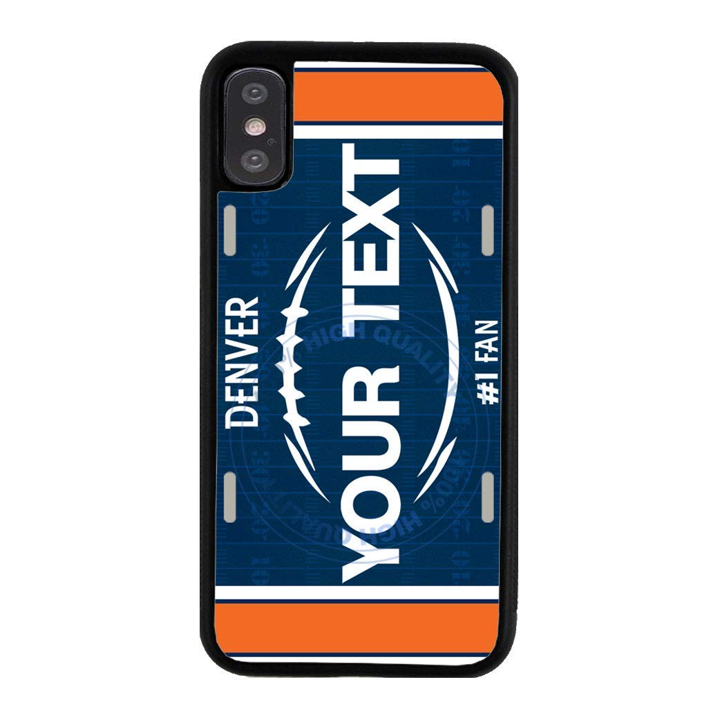 BRGiftShop Personalize Your Own Football Team Denver Rubber Phone Case For Apple iPhone XR