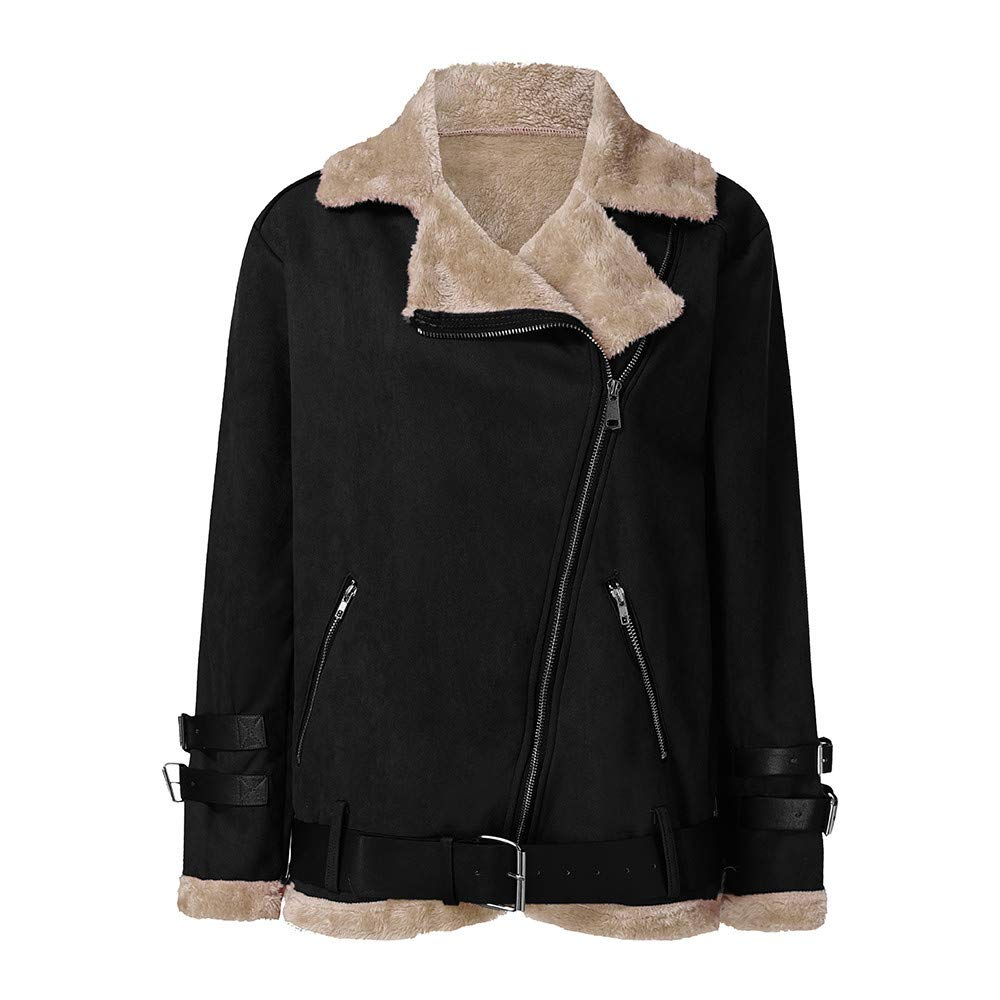 Amazon.com: Clearance Women Faux Fur Coat COPPEN Winter Fleece Outwear Warm Christmas Biker Motor Aviator Jacket: Musical Instruments