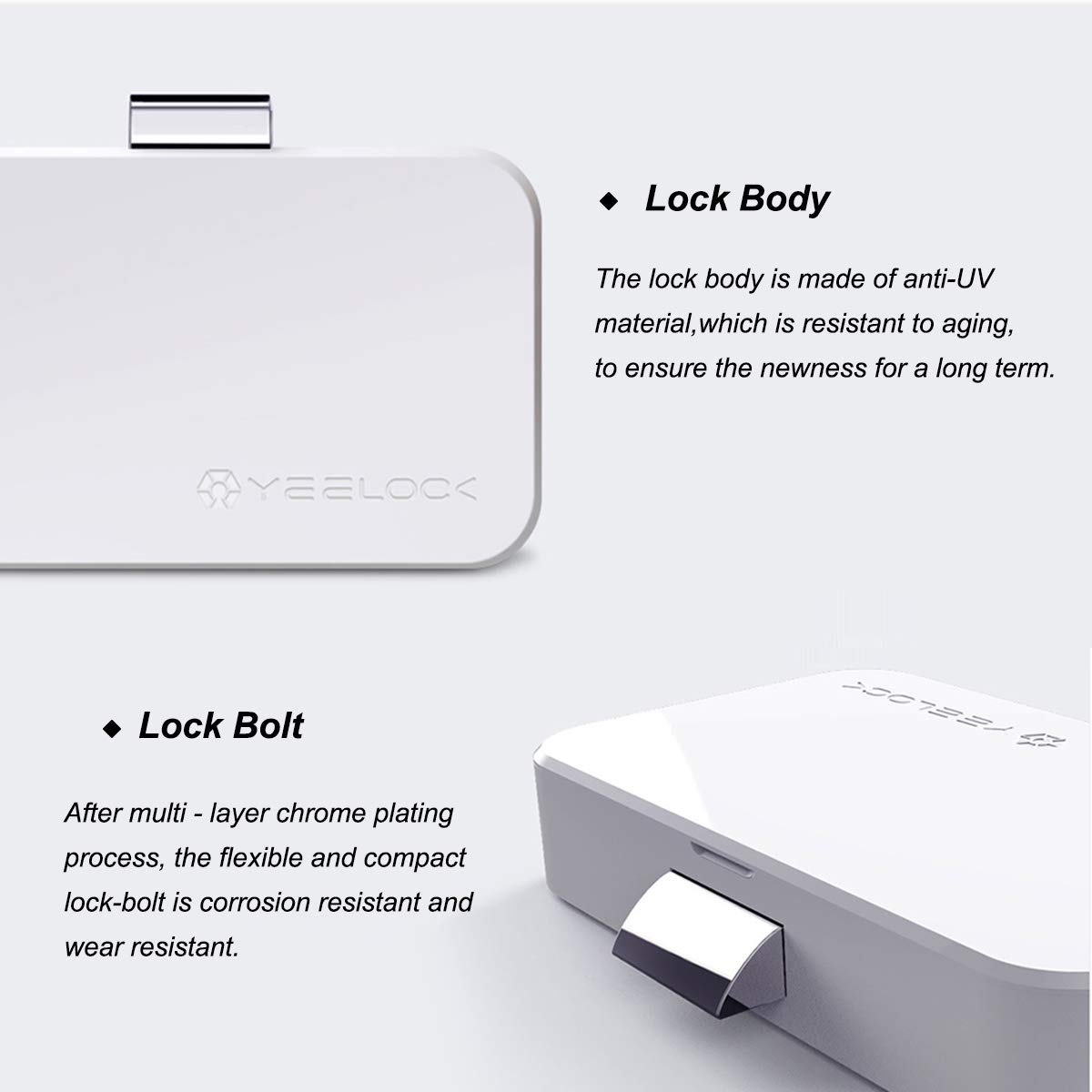 Cabinet Lock, Keyless Smart Lock for Drawer and Cabinet Bluetooth Smart Lock Perfectly for Bookcase, Bedside Table or Filing Cabinet, Support Android/iOS APP Unlock, Authorized Electric Key by YEELOC (Image #9)