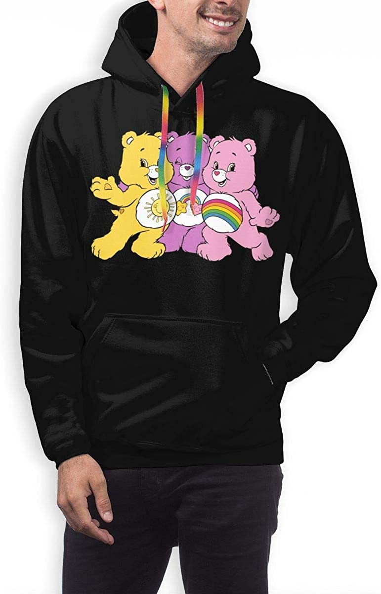 Care Bears 3D Pullover Hoodies Fashion Sweatshirt Casual Hoody Tops with Pocket for Men Hoody Medium|black