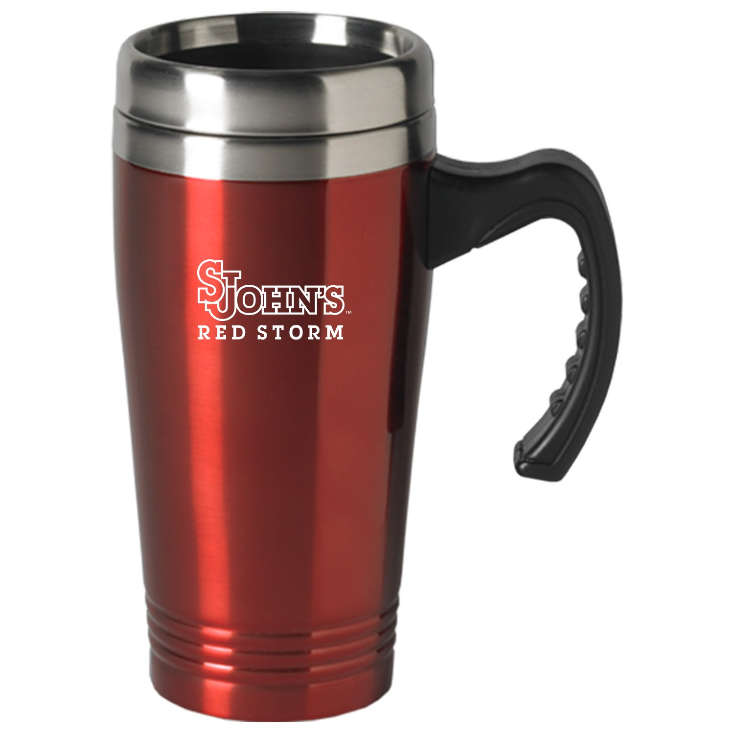 LXG, Inc. St. John's University-16 oz. Stainless Steel Mug-Red by LXG, Inc.