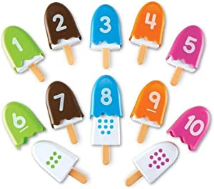 Learning Resources Smart Snacks Number Pops, Math Games for Kindergarten, Fine Motor Toy, Set of 10, Ages 18 mos+