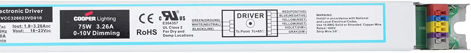 Copper Lighting Clxqunvcc326023vd010 Dimmable Led Driver 75w 18 23v 120 277v Electrical Amazon Canada