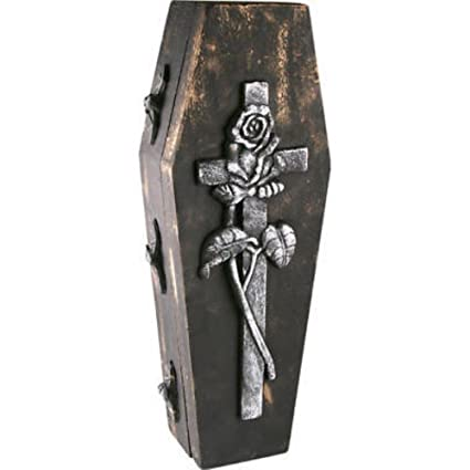 Amazon Com Halloween Fake Coffin Casket Box Case Prop Decoration