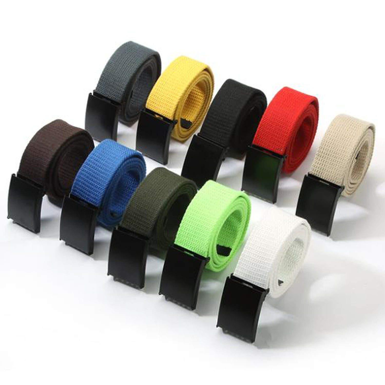 Unisex Waist Belt Mens Plain Waistband Casual Canvas Belt