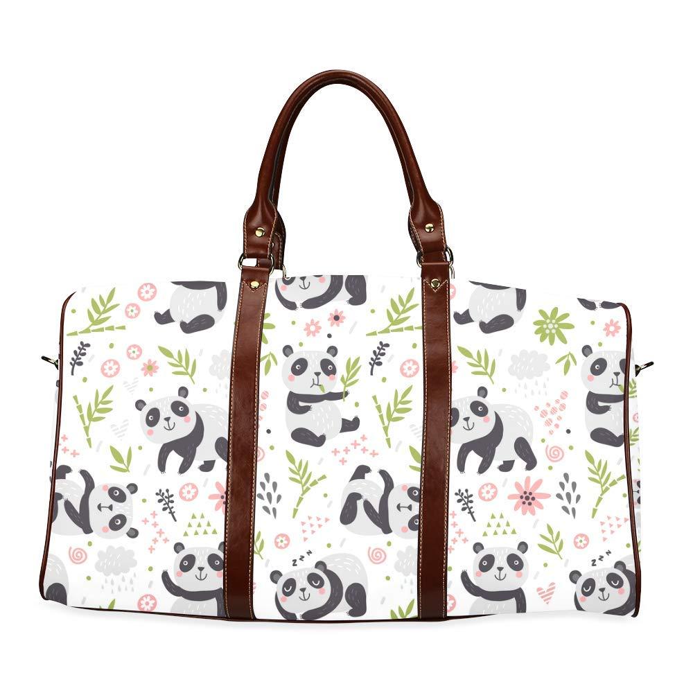 Travel Bag Pandas Duffel Overnight Bag Waterproof Travel Bag Womens Weekender