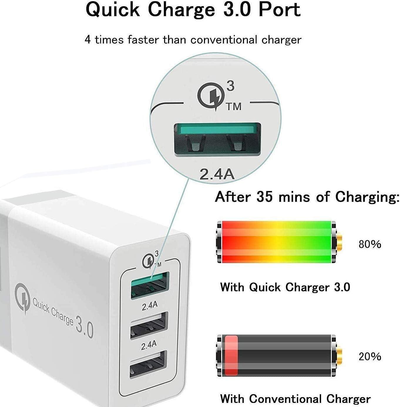 Yoogoal 3 Port 30w Usb Wall Fast Charger Power Adapter Elektronik