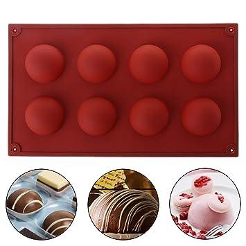 ecmqs molde de silicona - Demi Esfera Esfera Silicona - molde muffin Chocolate galleta molde para horno de horno jabón la hielo DIY herramienta: Amazon.es: ...
